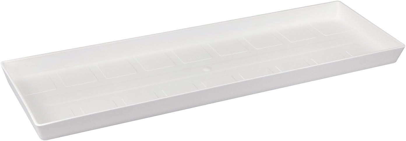 Elho Loft Urban Trough Saucer Platillo, Blanco, 47x15.3x7 cm