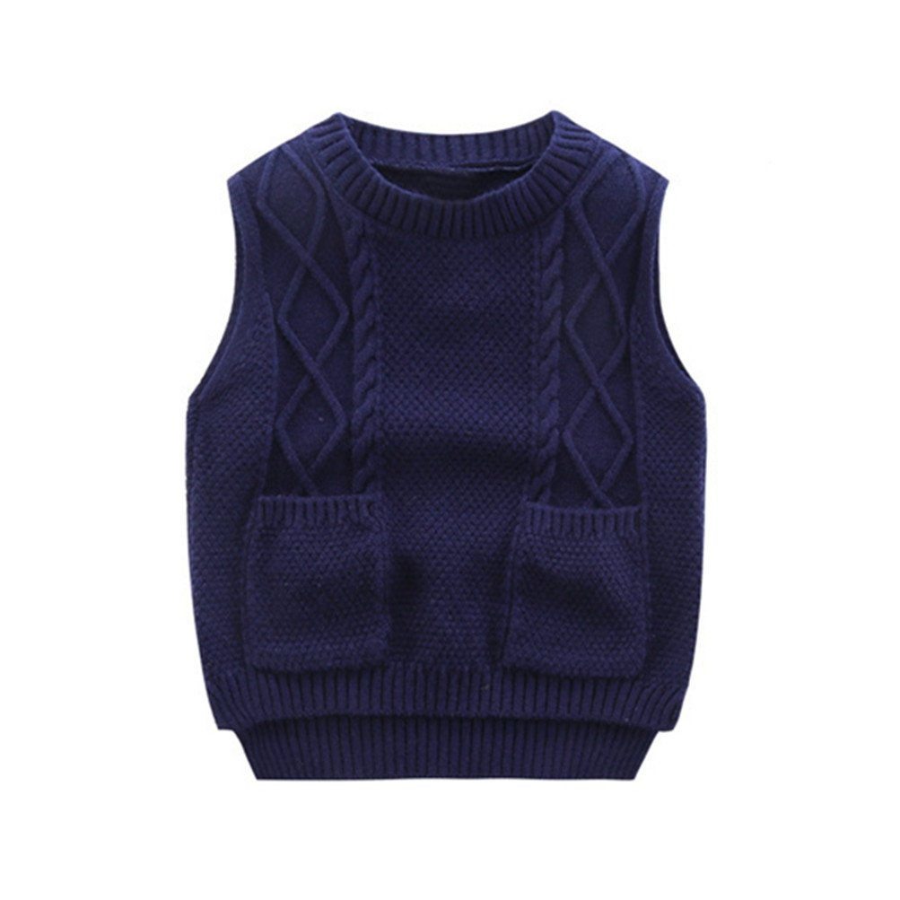 Mrsrui Boy Sweaters School Uniform Knitted Sleeveless Tank Clothes Tops by Mrsrui (Image #1)