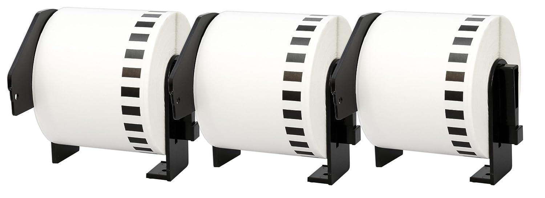5X DK-22205 62 mm x 30.48 m Endlosetiketten Papier kompatibel f/ür Brother P-Touch QL-1050 QL-1060N QL-1110NWB QL-1100 QL-500 QL-500BW QL-560VP QL-570 QL-580 QL-700 QL-710W QL-800 QL-810W QL-820NWB