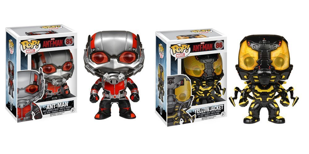 Amazon.com: Funko Ant-Man and Yellowjacket Pop! Vinyl Bobble Head ...