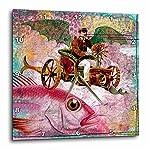 3dRose DPP_130447_1 Steampunk Dream Digital Art by Angelandspot Wall Clock, 10 by 10-Inch 4