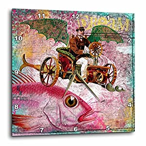 3dRose DPP_130447_1 Steampunk Dream Digital Art by Angelandspot Wall Clock, 10 by 10-Inch
