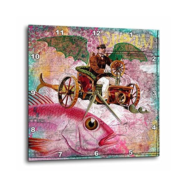 3dRose DPP_130447_1 Steampunk Dream Digital Art by Angelandspot Wall Clock, 10 by 10-Inch 3