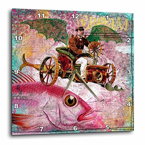 3dRose DPP_130447_1 Steampunk Dream Digital Art by Angelandspot Wall Clock, 10 by 10-Inch