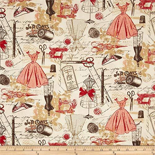 sewing machine print fabric - 1