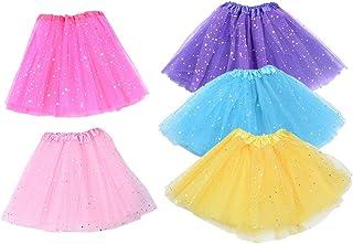 Toyvian Gonna Tutu di Danza Classica in Chiffon Tutu di Danza Classica per Bambini 5PCS