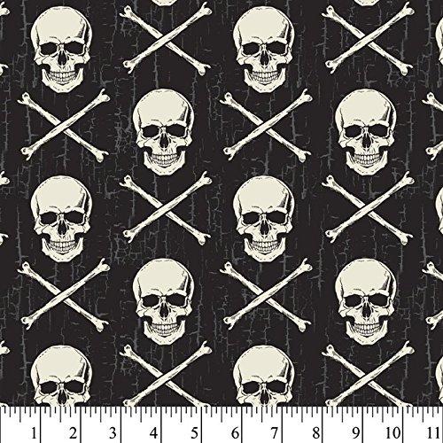 (Skull & Crossbones Cotton Fabric by The Yard)