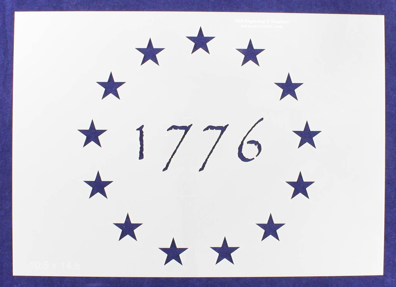 13 Star Revolutionary Field (1776) Stencil 14 Mil -10.5