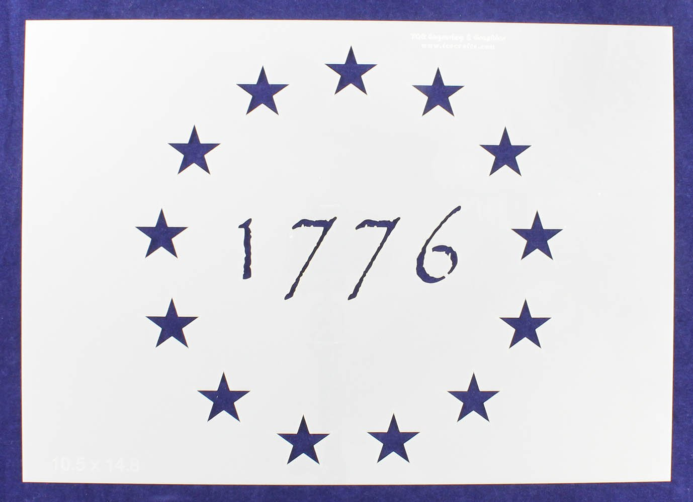 13 Star Revolutionary Field (1776) Stencil 14 Mil -10.5''H x 14.8''W - Painting /Crafts/ Templates