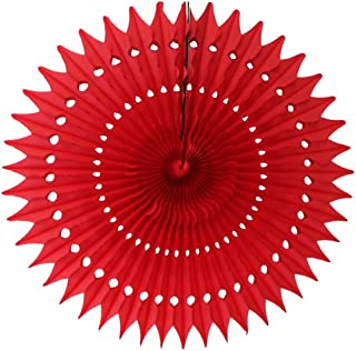 product image for 3-Pack 21 Inch Large Tissue Paper Fan (Red)