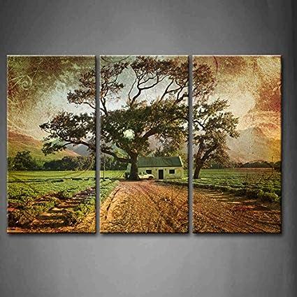 Amazon.com: First Wall Art - 3 Panel Wall Art Brown Grunge ...
