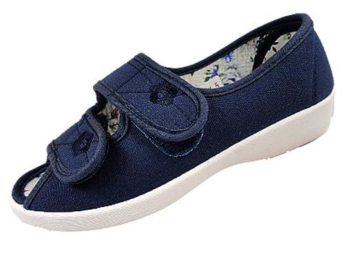 Dek - Zapatillas de Tela para mujer, color azul, talla 35.5