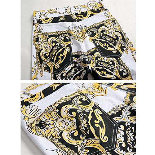 31 Taille Multicolore Éclair Slim Pour Homme Décontracté Jambe couleur Multicolore Droite Avec Un Stretch Denim Hommes À Coupe Pantalon Fermeture En Longue Jeans n1HRFn