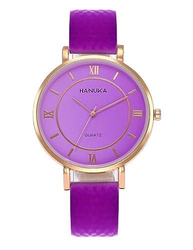 Las mujeres Thermochromic relojes Cooki Remoción hembra relojes de venta números romanos Lady relojes baratos Relojes Piel watch-a271: Amazon.es: Relojes