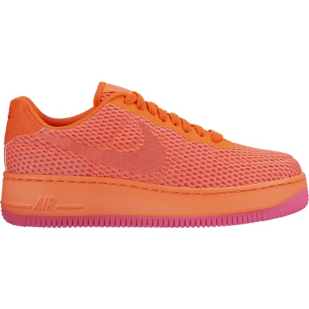 low priced 92e64 31b98 nike womens AF1 air force 1 low upstep BR trainers 833123 sneakers shoes  (US 9.5, total crimson total crimson 800)