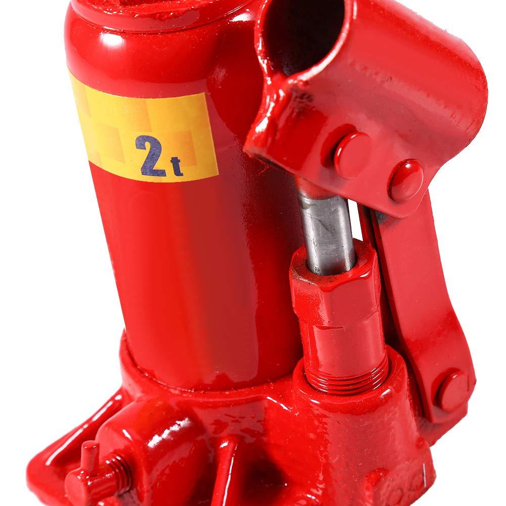 Martinetto Sollevatore Idraulico Jack Bottiglia Esistente per Veicoli Piccoli e Grandi Cambiamento Pneumatico 2T//3T//5T 2T Zerone Idraulica Cricco