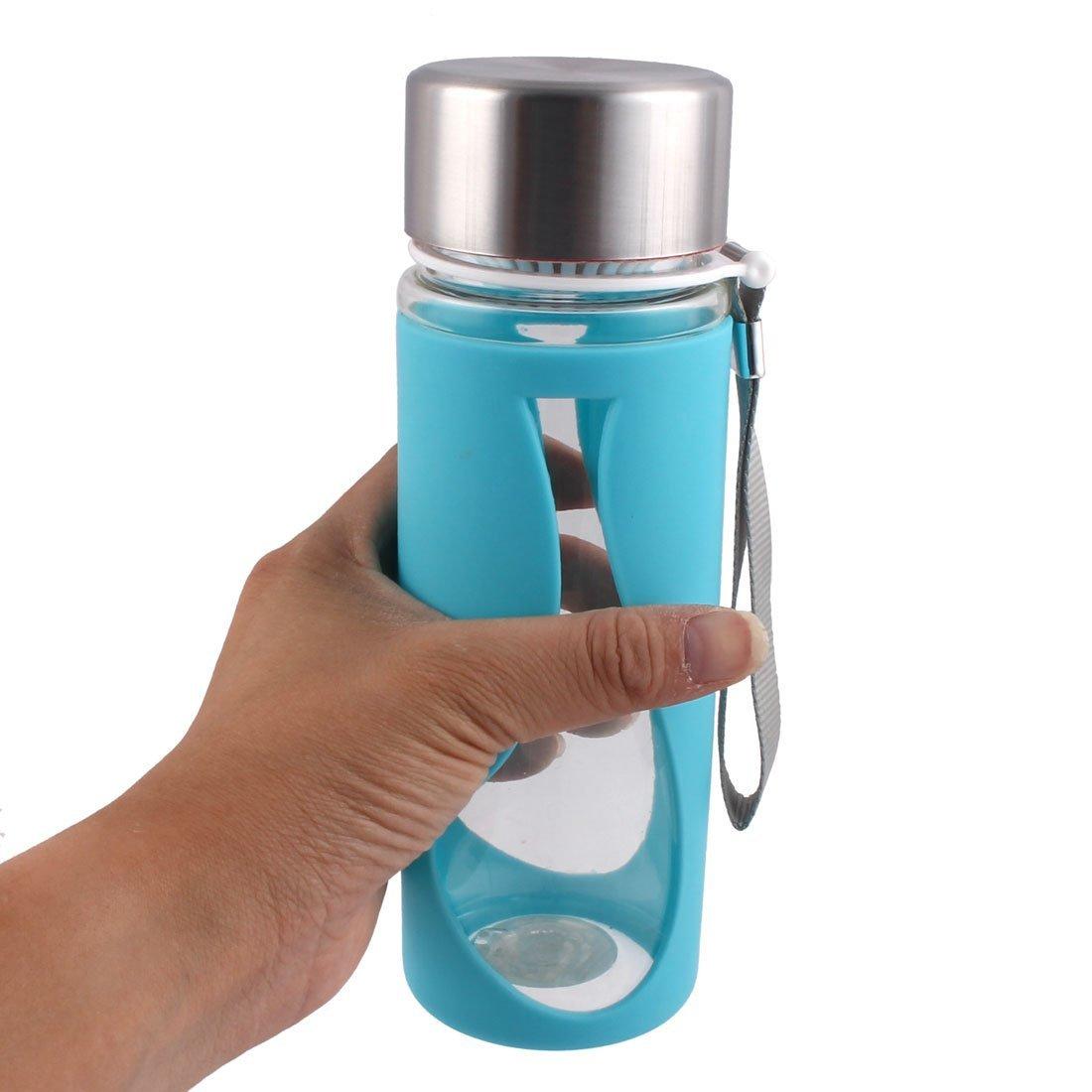 Amazon.com : eDealMax plástico Camping colador de té que Bebe la Botella de agua del Deporte Taza de la Taza de 500 ml Azul del trullo : Sports & Outdoors
