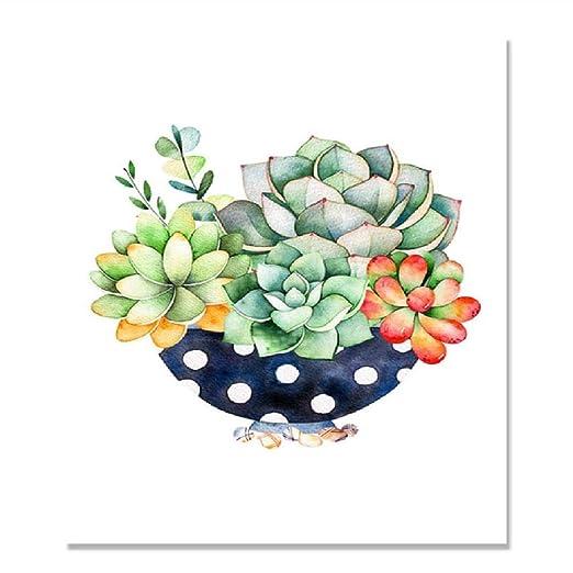Cactus Planta Suculenta Acuarela Cartel de Pared Cuadros ...