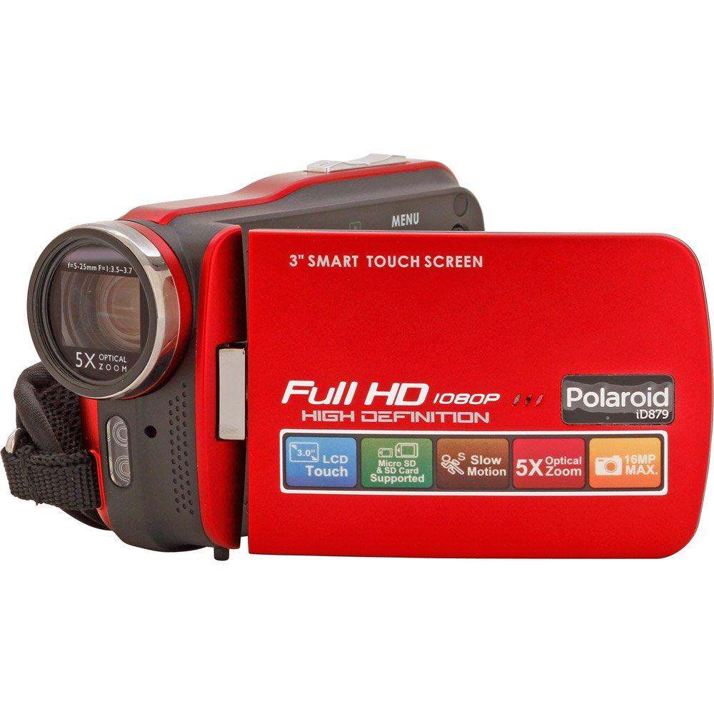 【並行輸入品】Polaroid ID879-RED Full 1080HD Camcorder with 3-Inch Screen (Red)   B008RFA2VW