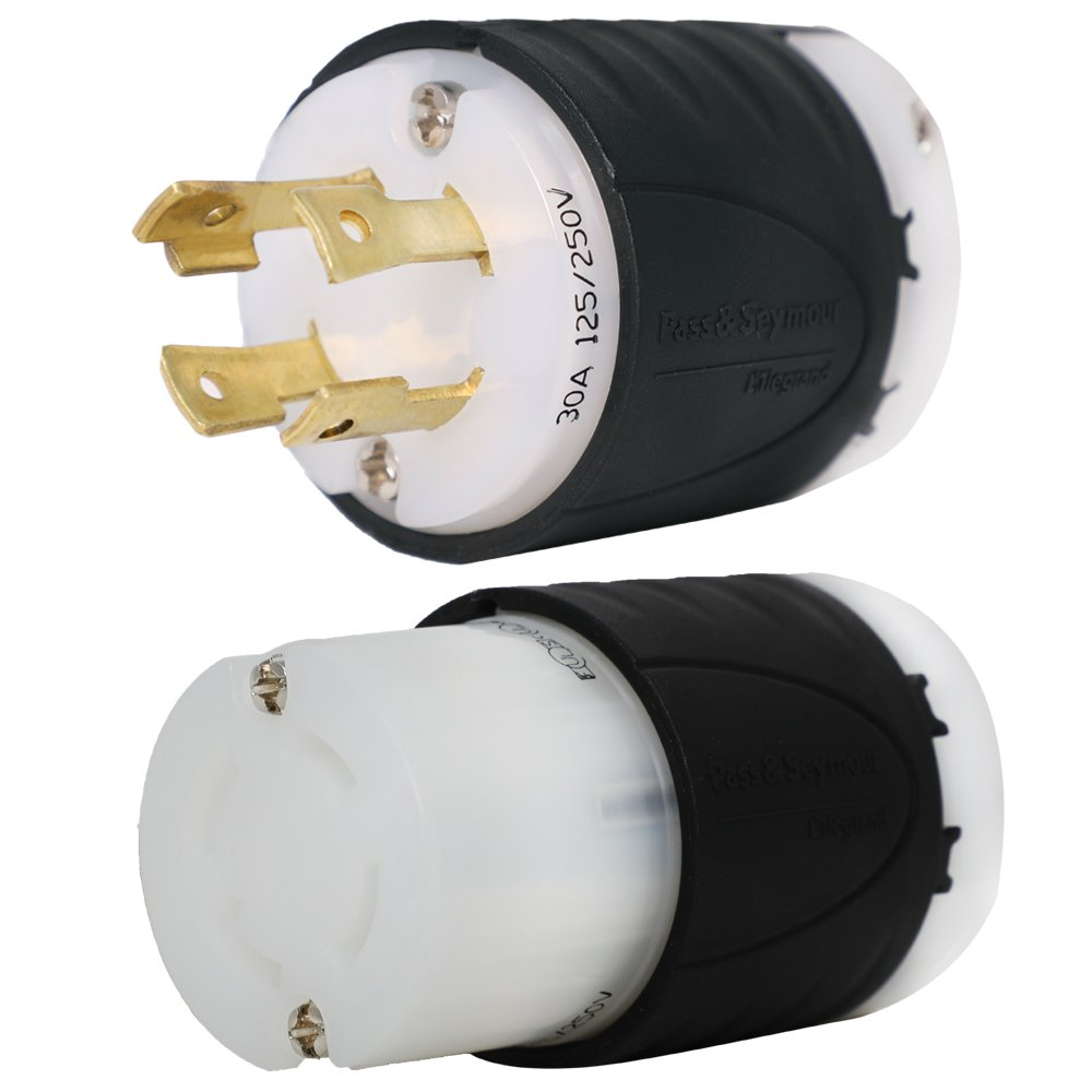 L14 30 Plug And Connector Set For 30a 125 250v 7500w Generators Reliance Controls Pb30 L1430 Amp Generator Power Cord Inlet Box Iron Part Ibx L1430pr Electric Plugs