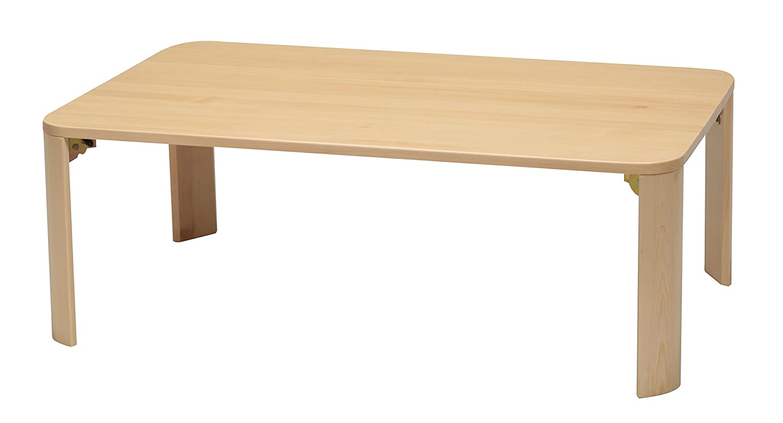 永井興産 軽量ホームテーブル 90 ナチュラル B0176DCPT2 ナチュラル ナチュラル