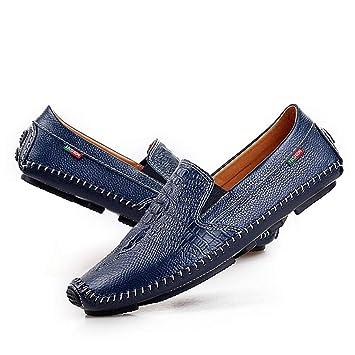 Mocasines Para Hombres Patrón De Cocodrilo Zapatos Para Conducir Moda Piel Zapatos Casual De Negocios Zapatos