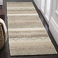 Safavieh NAT101A-28 Natura Collection Handmade Wool Runner, 23 x 8, Beige