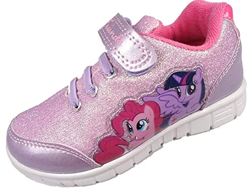 41dbd1d11c35 Girls MLP My Little Pony Glitter Pink with Silver Glitter Trainers Joggers  UK Size 6