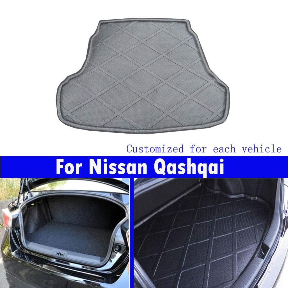 Qashqai 2008 2009 2010 2011 2012 2013 2014 2015 2016 2017 2018 2019 almohadillas de maletero de coche Alfombrillas delanteras para Coches nuevos 1PCS cola almohadillas
