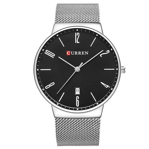 Curren 8257G - Reloj de pulsera moderno y lujoso para hombre, negocios, informal: Amazon.es: Relojes