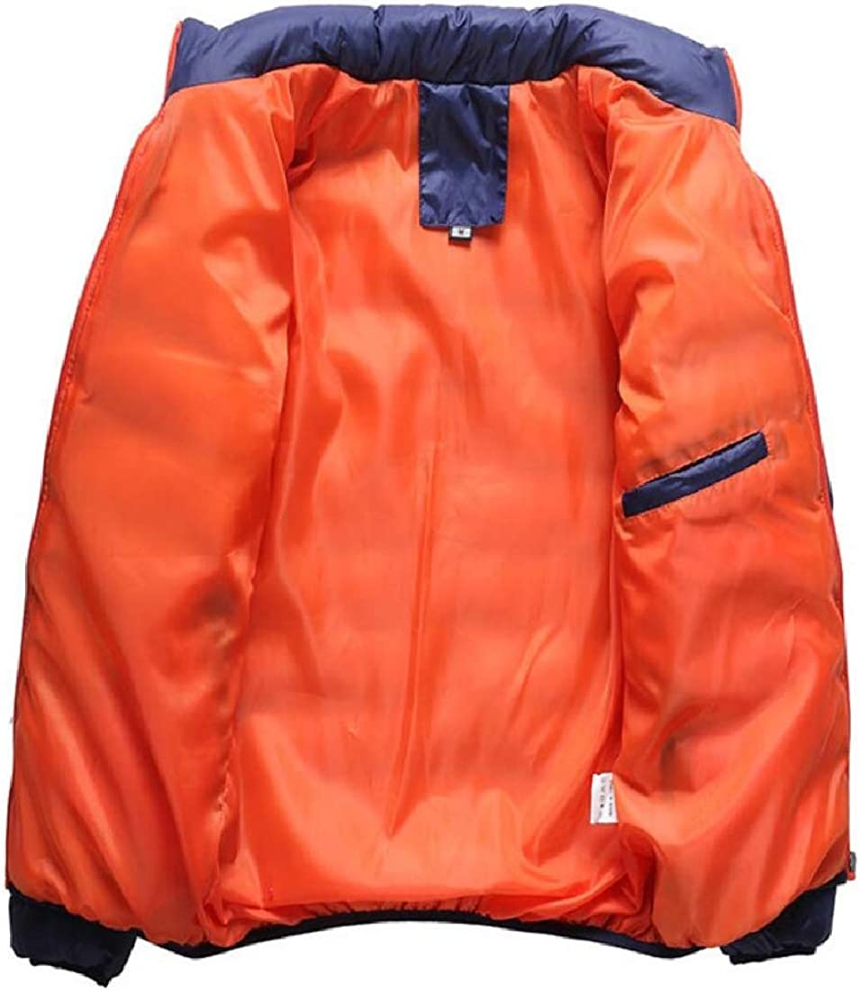 XQS Mens Fashion Long Sleeve Stand Collar Packable Down Jacket