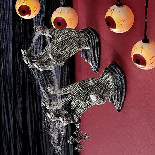 Design Toscano Hands of the Undead Zombie Wall Sculptures - Zombie Statue - Halloween -