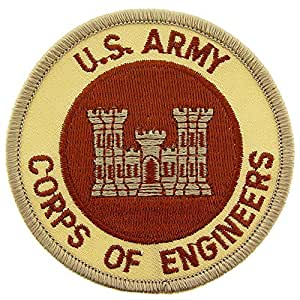 U.S. Army Corps of Engineers Patch Brown 3""