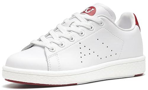 aumu Mujer Piel De Vaca de encaje hasta zapatillas moda transpirable senderismo ocio zapatos: Amazon.es: Zapatos y complementos