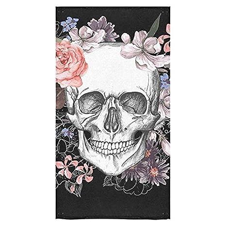 Mi Nuevo Vestido azúcar calavera y flores día de los muertos playa toalla de toallas de