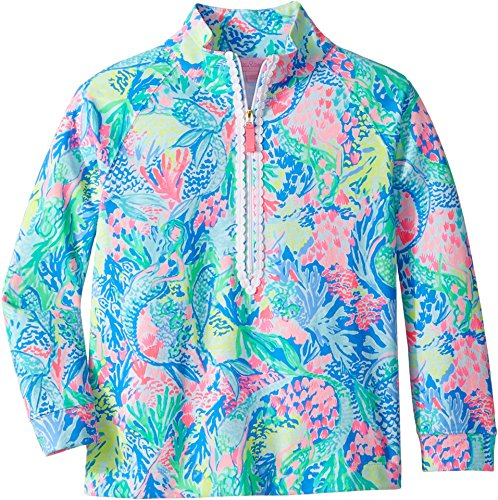 Little Mermaid Big Note - Lilly Pulitzer Kids Baby Girl's Little Skipper Popover (Toddler/Little Kids/Big Kids) Multi Mermaids Cove X-Large