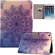 Samsung Galaxy Tab A 8.0 Inch T350 Case,Hica PU Leather Ultra-Thin Folding Painting Auto Sleep/Wake Feature Card Slot Protection Cover Case for Samsung Galaxy Tab A 8.0 Inch T350, Mandala Flower