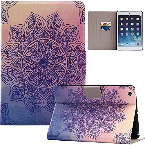 Price comparison product image Kindle Paperwhite 1 / 2 / 3 6.0 Inch Case, Hica PU Leather Folding Painting Auto Sleep / Wake Feature Card Slot Cover for Kindle Paperwhite 1 / 2 / 3 6.0 Inch,  Mandala Flower