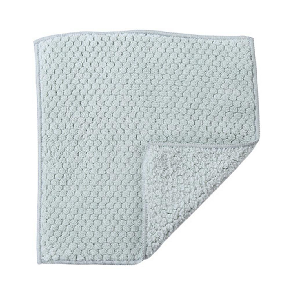 Clearance Sale!DEESEE(TM)Nonstick Oil Coral Velvet Hanging Hand Towels Kitchen Dishclout (Green)