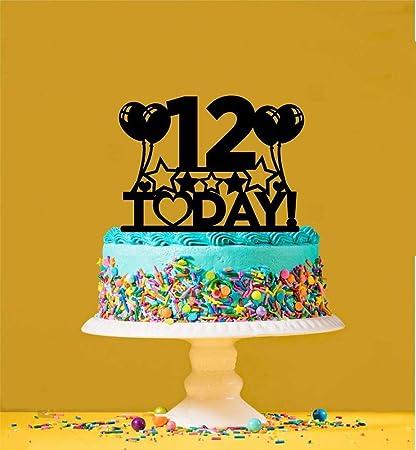 Incredible Amazon Com 12Th Birthday Cake Topper 12 Years Old Twelfth Funny Birthday Cards Online Elaedamsfinfo