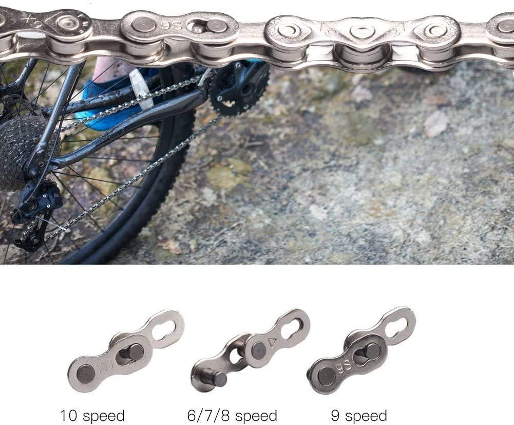 VGEBY 5 Pares Eslabones de Cadena de Bicicleta Connector para 6-7-8 9 10 Velocidad Uni/ón R/ápida