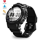 Sport Watch for Men Smart Fitness Activity Tracker IP68 164ft Waterproof with HR Heart Rate Monitor, Step/Calorie Counter, Pedometer, Compass,6 Multi-Sport Mode, 30 Days Working Time for Outdoor Watch
