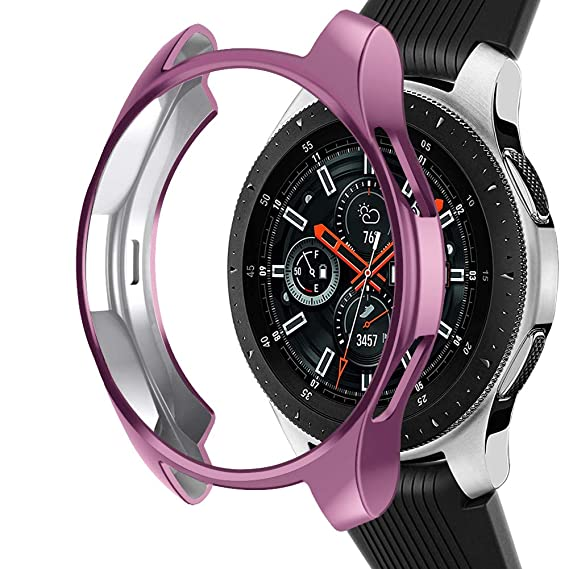 Case Compatible Samsung Galaxy Watch 42mm, NaHai Slim Plated TPU Case Scratch-Proof Cover Shatter-Resistant Protective Bumper Shell for Galaxy Watch ...