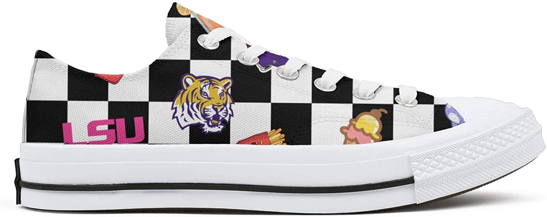 BOINN Womens Low Top Lace Up Skate Canvas Shoe Slip-Resistant Design Sport Go Easy Walking Sneakers