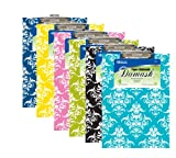 Standard Size Damask Paperboard Clipboard (Set of 48)