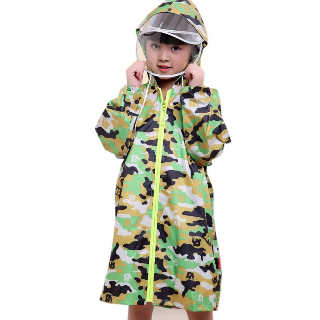 D X-grand Hyuyi Imperméable pour Enfants Hommes et Femmes à la Maternelle avec Sac vêteHommest imperméable Vert Poncho (Couleur   C, Taille   XL)