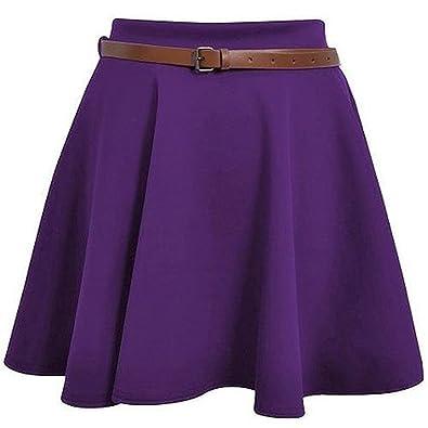 Falda del Vestido de Las señoras para Mujer con cinturón Mini ...