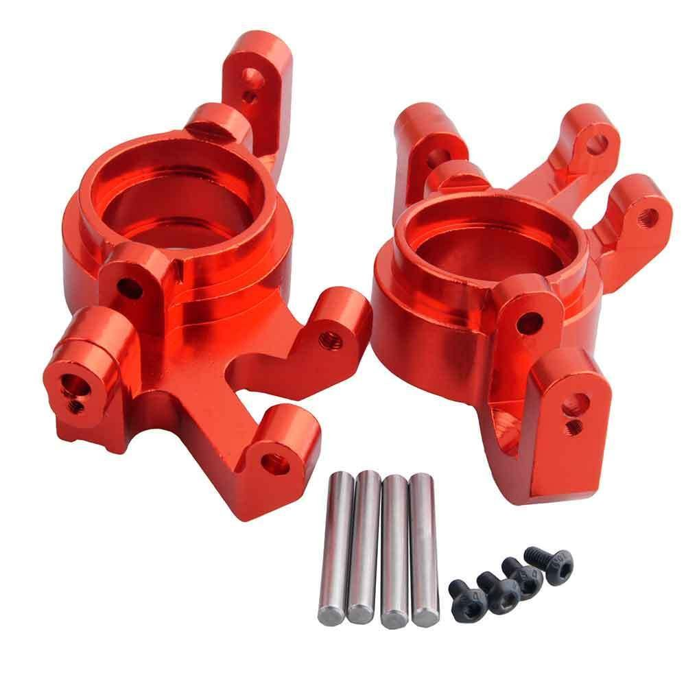 Toyoutdoorparts RC TRA 7737 Upgrade Red Alum Steering Blocks L/R for Traxxas X-MAXX Truck by Toyoutdoorparts (Image #2)