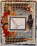 """A bird does not try to fly, it flies"" ☼ 15""x18"" ☼ Fabric, Natural Dyes, Ink, New and Repurposed Materials ☼ US Shipping is included in the price ☼ The ""canvas"" is made of new and repurposed fabrics that have been hand dyed, distressed, and m..."