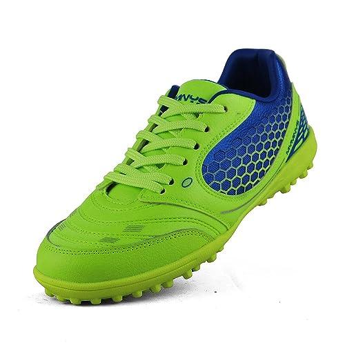 Boy s Athletic luz peso cordones zapatillas de deporte para tacos de deporte fútbol (